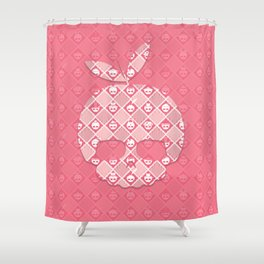 The Nik-Nak Bros. Peachie Deluxe Shower Curtain