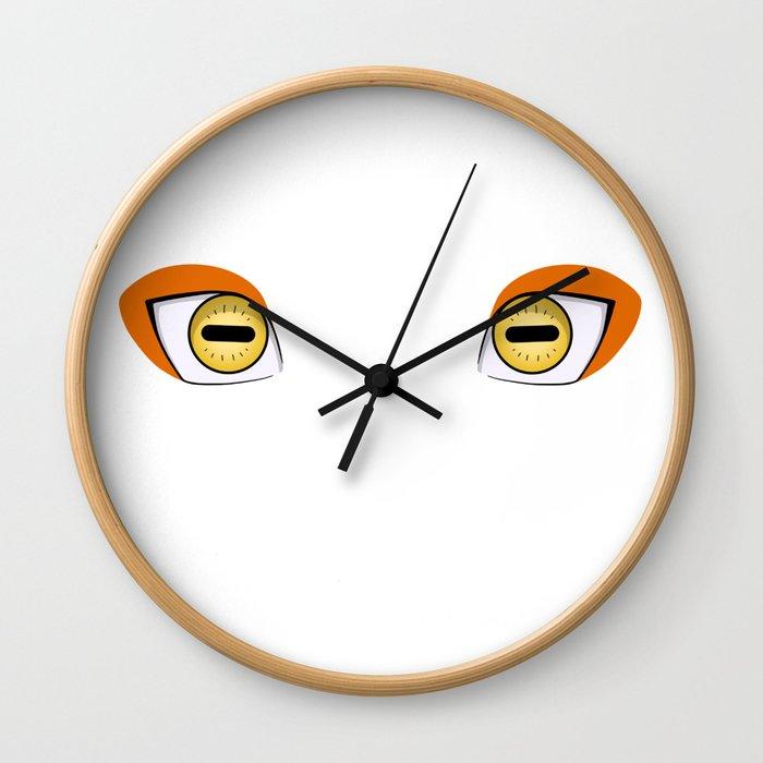 Sage Mode Eyes Wall Clock