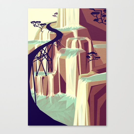 The black bridge Canvas Print