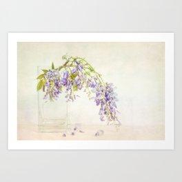 Still life with wisteria Art Print
