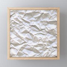Crumpled Paper Framed Mini Art Print