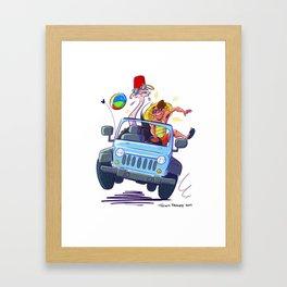 Ostrich Summer Framed Art Print