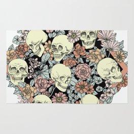 Blooming Skulls Rug