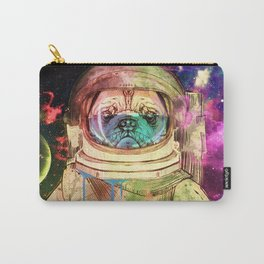 Astronaut Pug COLOR Carry-All Pouch