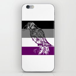 Asexual Pride Corvid iPhone Skin