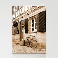 cycling Stationery Cards featuring Cycling by Karl-Heinz Lüpke