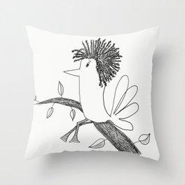 Sitting On A Tree Throw Pillow