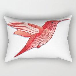 Red hummingbird colibri. Rectangular Pillow