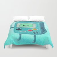 game of thrones Duvet Covers featuring Game Beemo by Lime