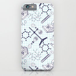 science graph paper iPhone Case