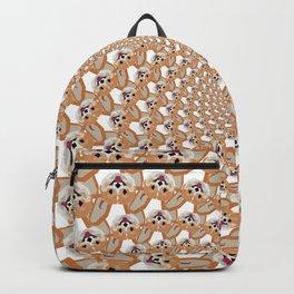 Cardigan Corgi Face Pattern - version two Backpack