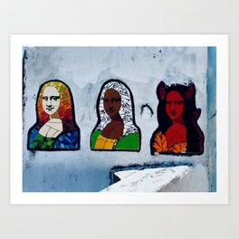 3 Faces of Mona Art Print
