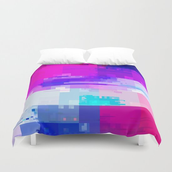 GLITCH ART 8 Duvet Cover