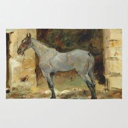 """Henri de Toulouse-Lautrec """"Cheval attaché"""" Rug"""