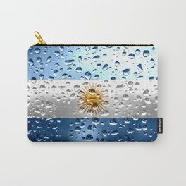 Flag of Argentina - Raindrops Carry-All Pouch