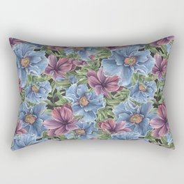 Hibiscus Flowers on Chalkboard Rectangular Pillow