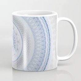 Elegant Blue Silver China Inspired Mandala Coffee Mug