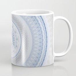 Elegant Blue Silver China Inspired Mandala Coffee Mug