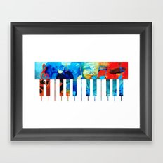 Colorful Piano Art by Sharon Cummings Framed Art Print
