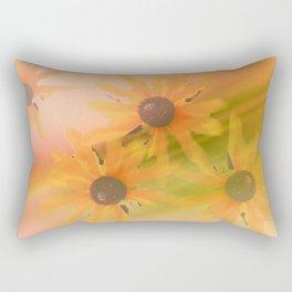 4 Sunflowers Rectangular Pillow