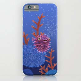 Balloon fish iPhone Case