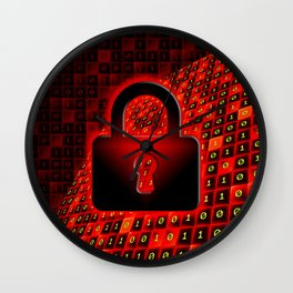 Secure data concept. Wall Clock
