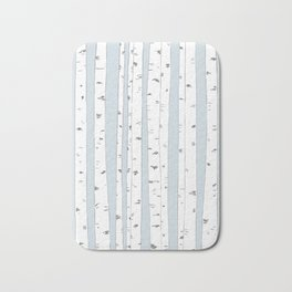 Aspen Forest - Blue Grey Vertical Bath Mat