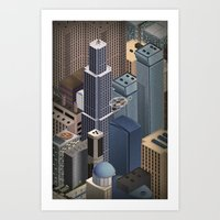 metropolis Art Prints featuring Metropolis by Soak