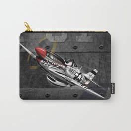 WW-II Warbird P-51 Mustang Airplane Cartoon Carry-All Pouch