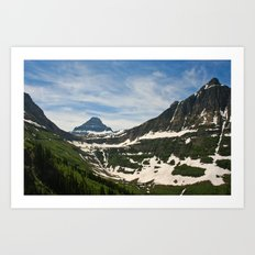 Bear Hat Peak (Glacier National Park) Art Print