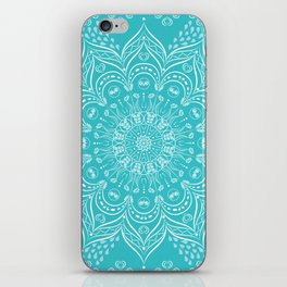 Teal mandala iPhone Skin