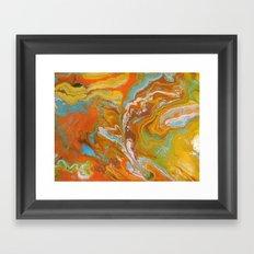 Orange Fizz Framed Art Print
