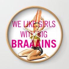 Pin up Girl — We like BIG Br… Wall Clock