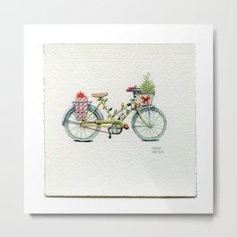 A Christmas Bicycle - Drawing #29 Metal Print