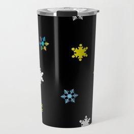 Snowflakes_C Travel Mug