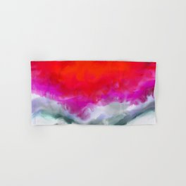 Abstract in Red, White and Purple Hand & Bath Towel
