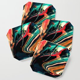 ABSTRACT COLORFUL PAINTING II-A Coaster