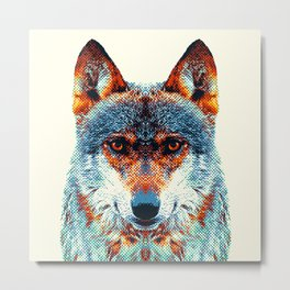Wolf - Colorful Animals Metal Print