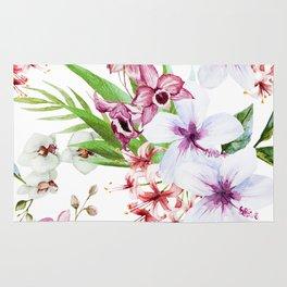 Tropical Floral Pattern 06 Rug