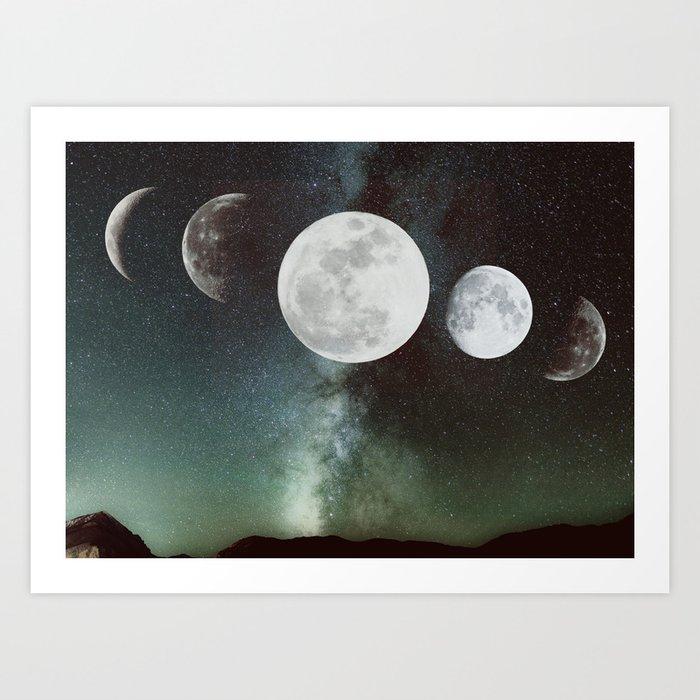 Sunday's Society6 | Moon phases art print