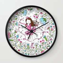 Sweet Ballerina Wall Clock