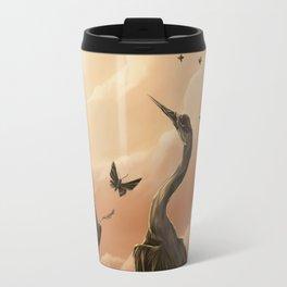 Crane and moth  Travel Mug