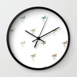 Flamingo Spring Pattern Wall Clock