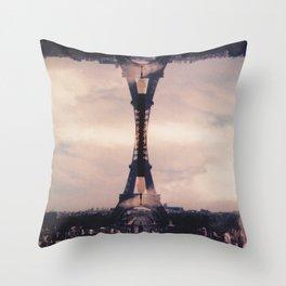 Dueling Eiffel Towers // Paris Throw Pillow