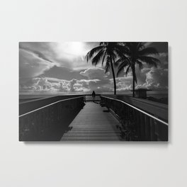 Woman at the end Metal Print