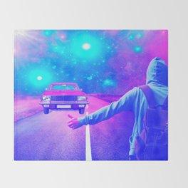 Ghost Car by GEN Z Throw Blanket