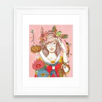 nirvana Framed Art Prints featuring Nirvana by Natsuki Otani