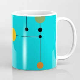 Dot line Dot in Aqua Coffee Mug