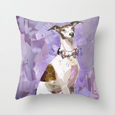 Vito the Italian Greyhound Throw Pillow