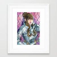 cassandra jean Framed Art Prints featuring Cassandra by LinasIllustration
